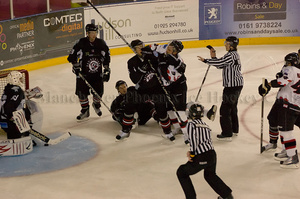 Tempers fray in the second period